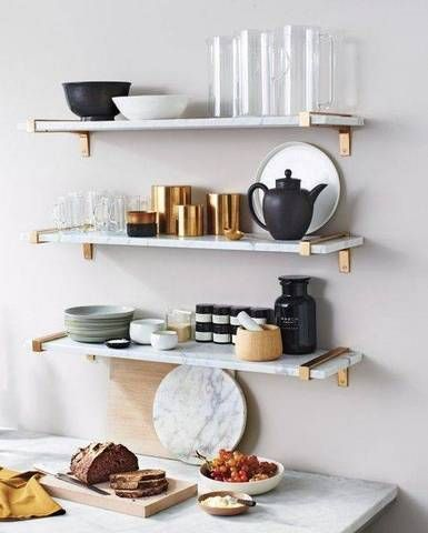 Marble Brass Home Decor Guide Domino Marble Shelf Home Decor Trends Kitchen Marble
