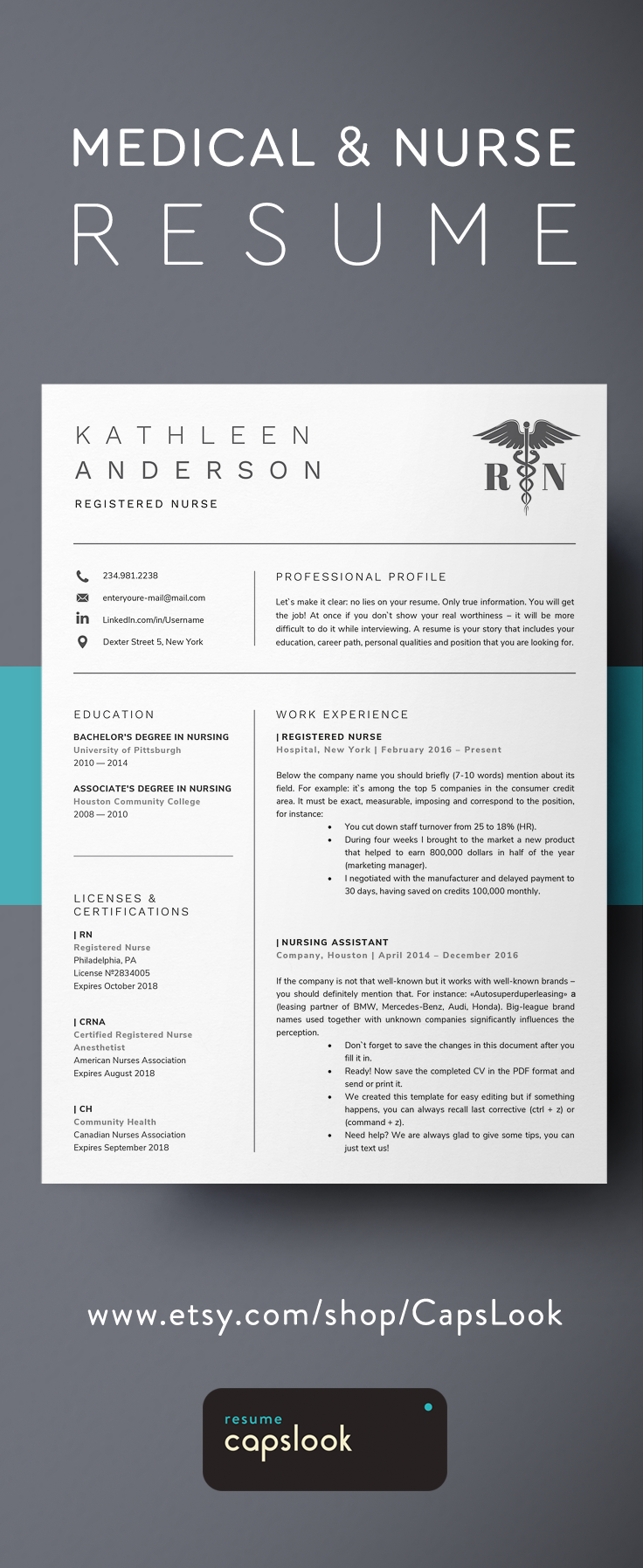 Registered Nurse Resume Template For Word Nursing Resume Rn