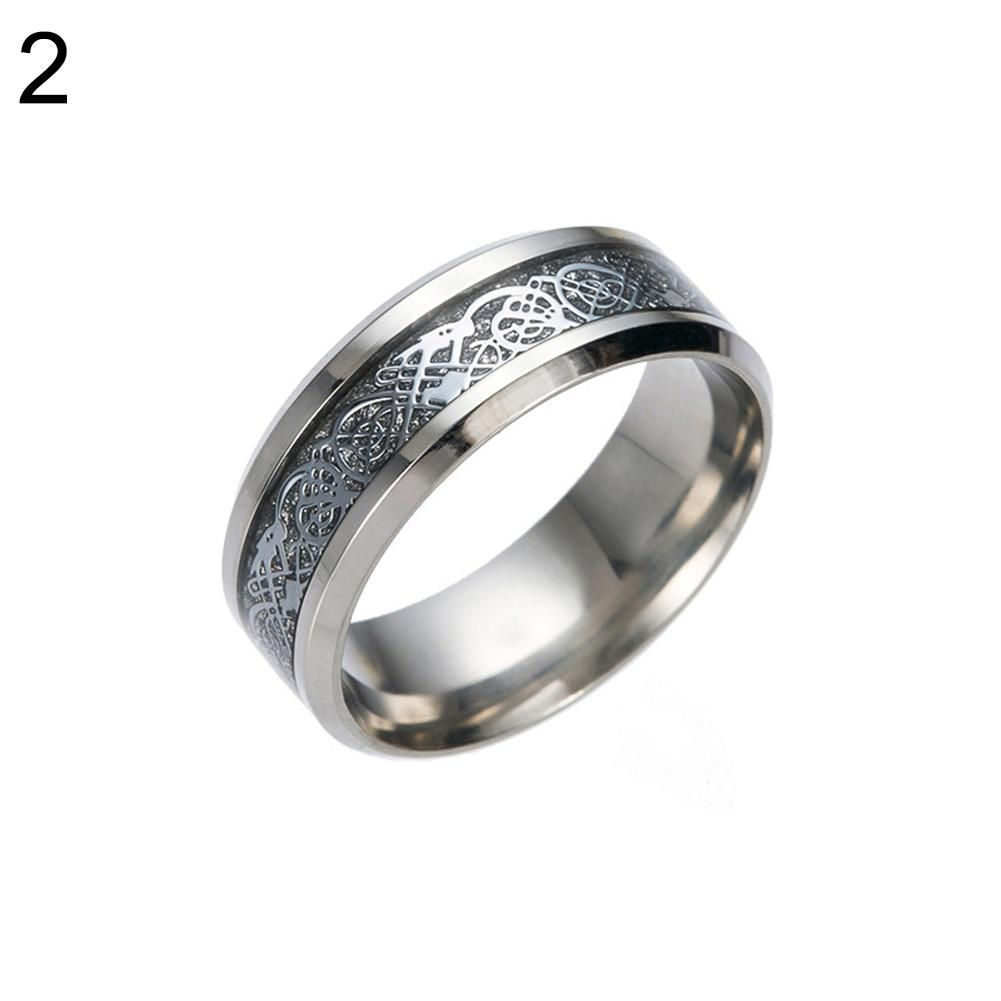 Photo of Stylish Men Titanium Steel Smooth Surface Wedding Band Finger Ring Jewelry Gift – Silver add Silver / US 12