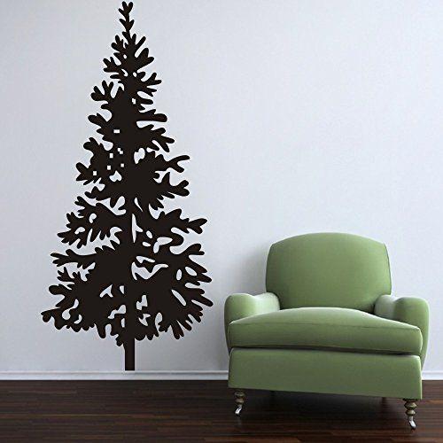 Christmas Tree Wall Decal Vinyl Christmas Tree Decor Merry Christmas