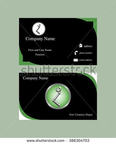 Business Card With Robotics Hand Logo Design Business Cards