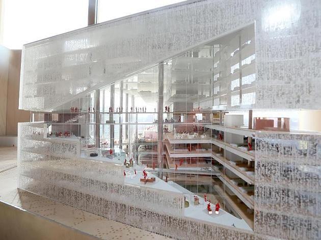 Der Entwurf des Architekten Rem Koolhaas für den neuen Axel-Springer-Campus.