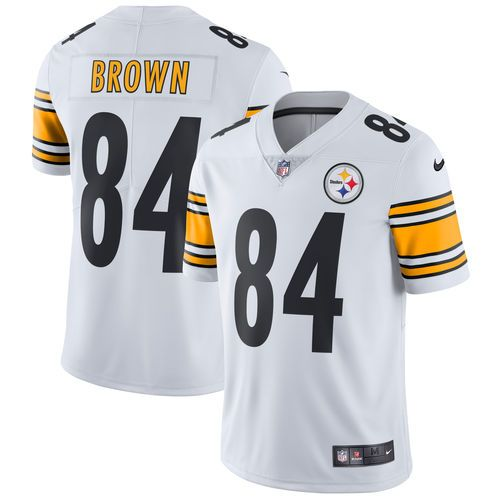 84c2143dd16 Men's Pittsburgh Steelers Antonio Brown Nike White Vapor Untouchable  Limited Player Jersey