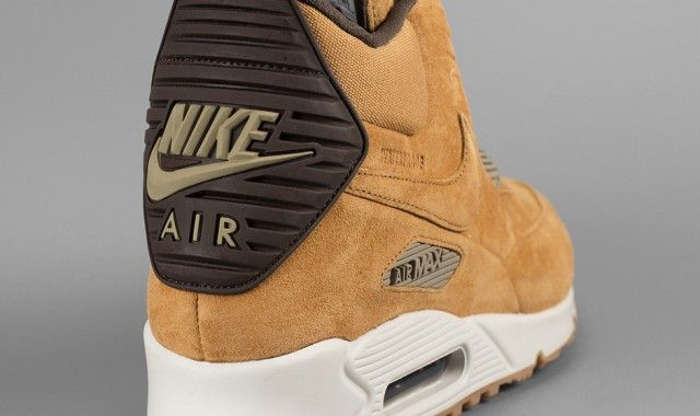 best cheap dd528 37537 nike air max 90 sneakerboot wheat