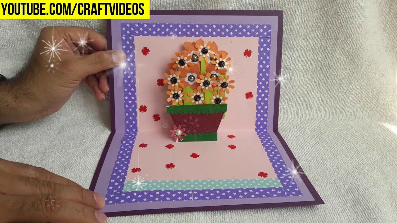 Teacher day pop up card #teachersdaycard