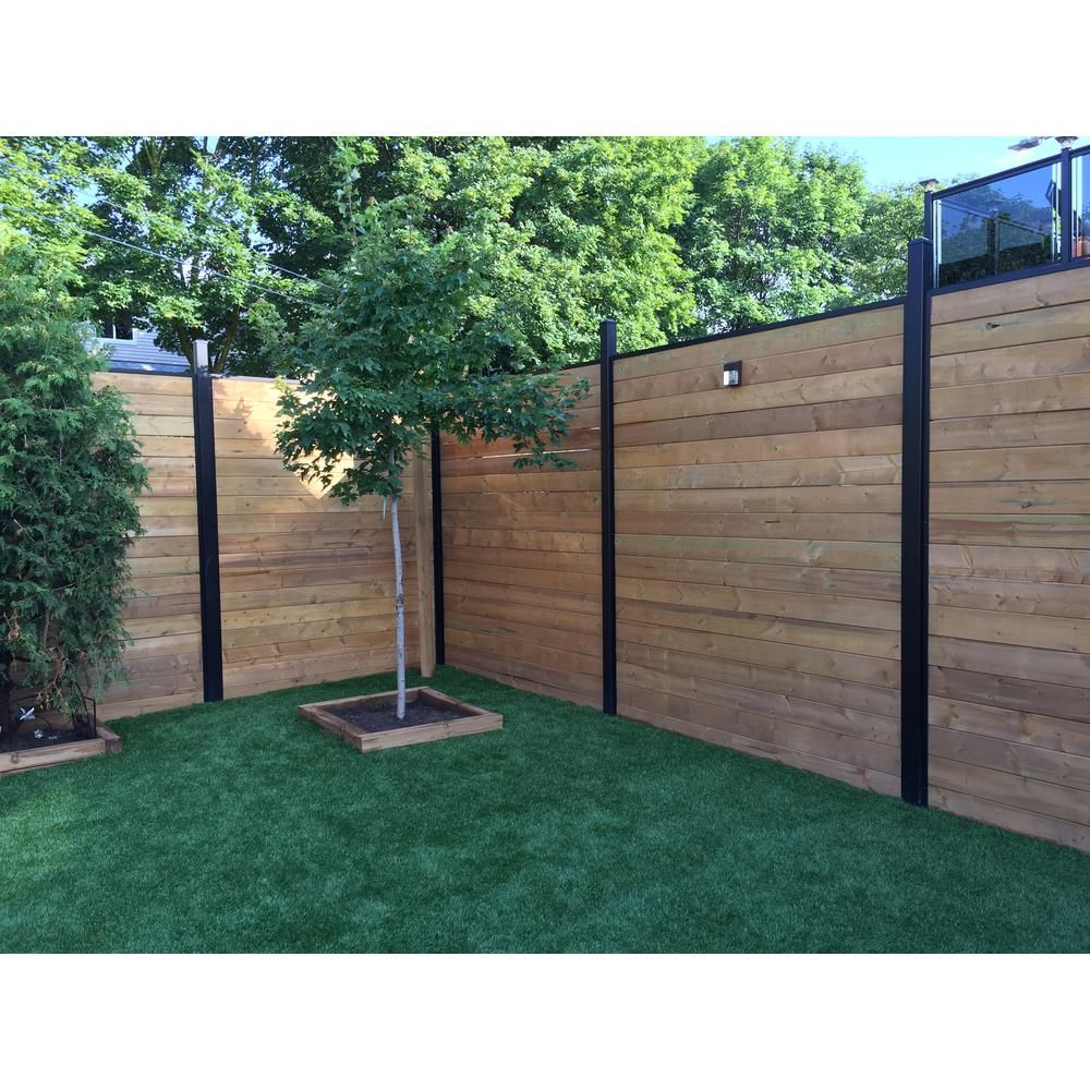 Slipfence 3 In X 3 In X 10 Ft 4 In Black Powder Coated