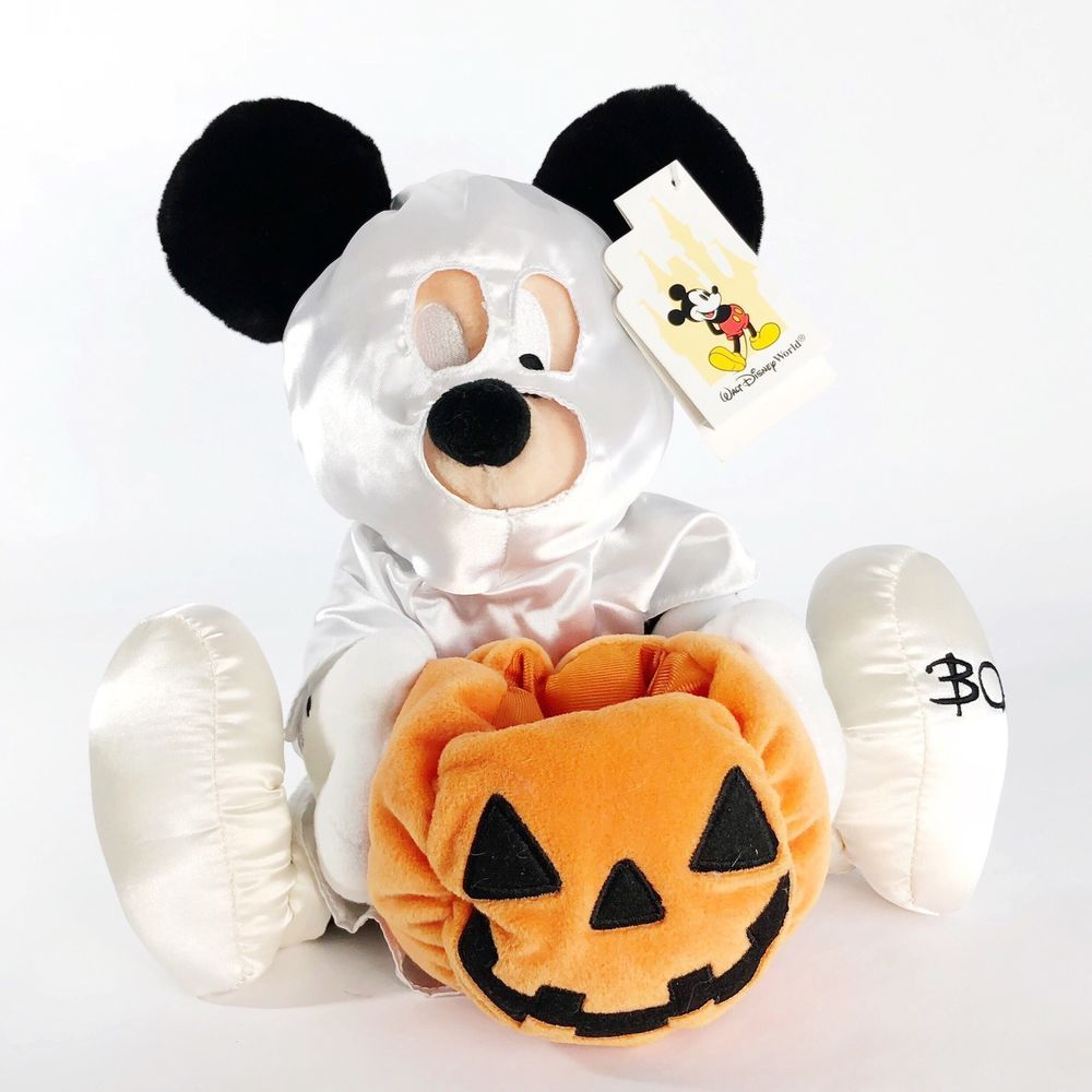 Disney Parks Pumpkin Salt And Pepper Shakers Mickey Minnie Mouse Halloween New
