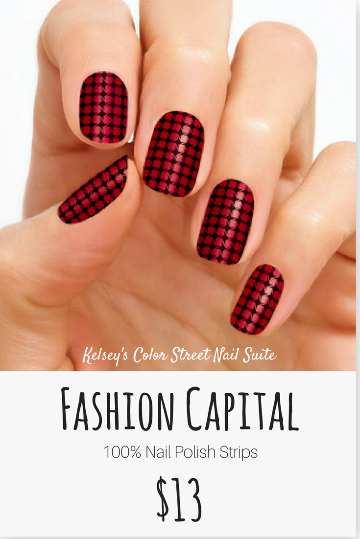 Color Street Fashion Capital. Red and black edgy nail art. Apply dry ...