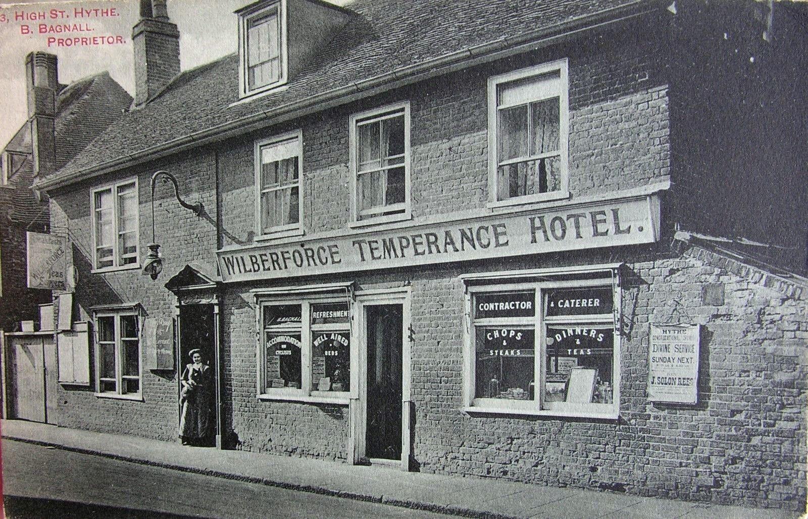 Wilberforce Temperance Hotel Hythe Kent C 1905 Wilberforce Folkestone Hotel