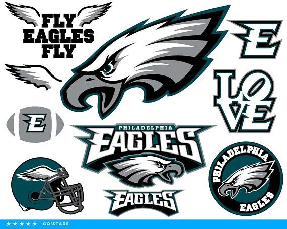 Philadelphia Eagles Svg And Clipart Files Eagles Fan Pack Different File Formats 10x Svg Philadelphia Eagles Fans Philadelphia Eagles Football Philly Eagles