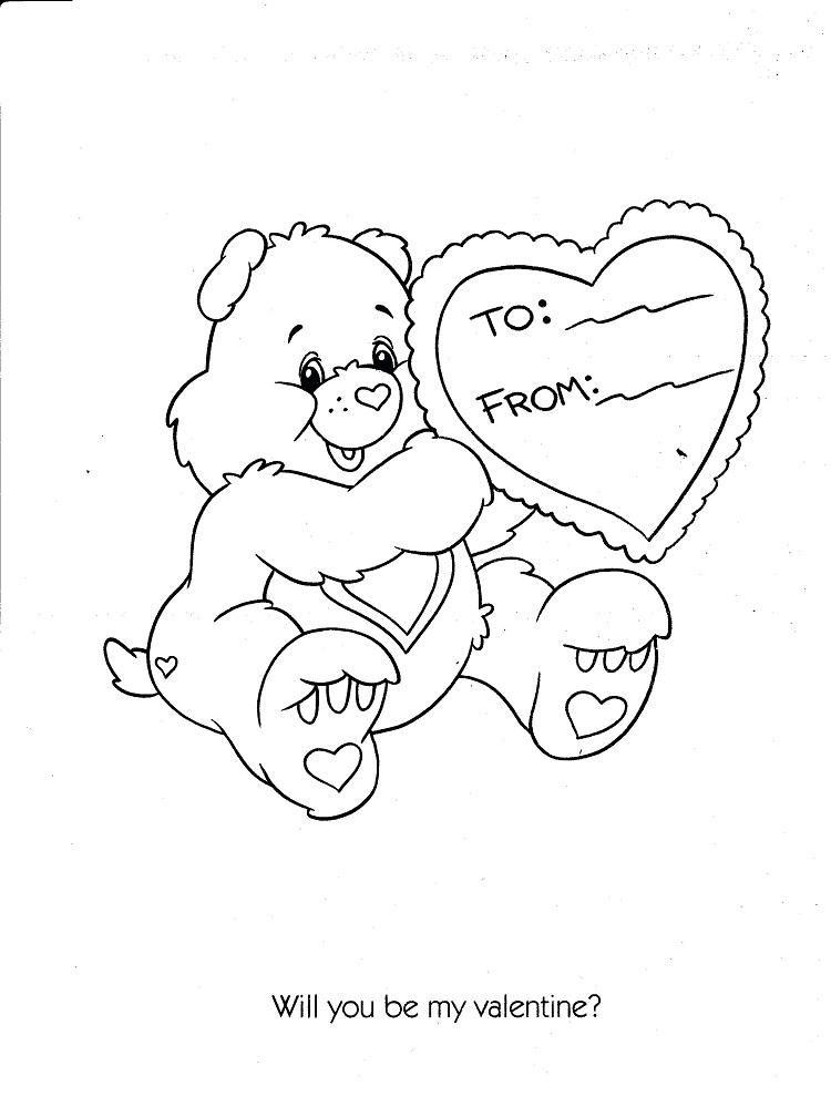 Care Bear Valentine Coloring Pages Bear Coloring Pages Valentine Coloring Valentine Coloring Pages