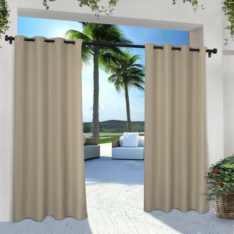 Denton Solid Color Semi Sheer Room Grommet Curtain Panel Indoor Outdoor Curtains Outdoor Curtains Outdoor