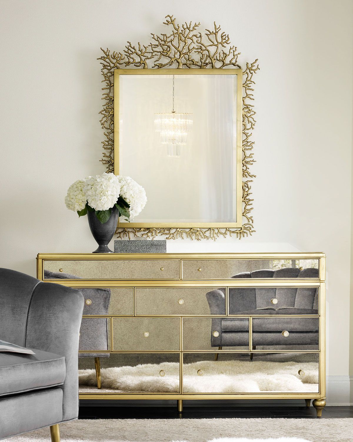 mirrored furniture decor. Bewitch Mirrored Dresser Furniture Decor I