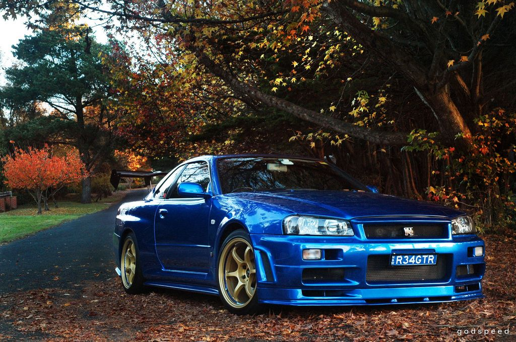 Charming Nissan Skyline R34 GT R V Spec II At Leura, Autumn In The