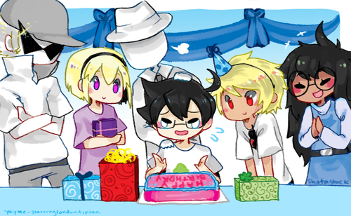 Homestuck// omg this is so cute loOK AT DAVIE'S PRETTY WITTLE  EYES SO CUTE