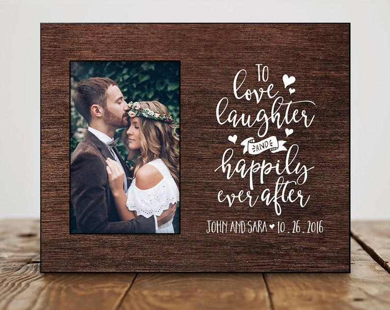 Personalized Wedding Gifts For Couple Wedding Gift Ideas Etsy In 2020 Personalized Wedding Shower Gift Wedding Picture Frames Gifts Framed Wedding Photos