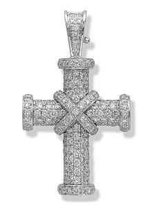 f28fd78554175e THEO FENNELL 18ct white-gold and diamond Baby Cross pendant | Theo ...