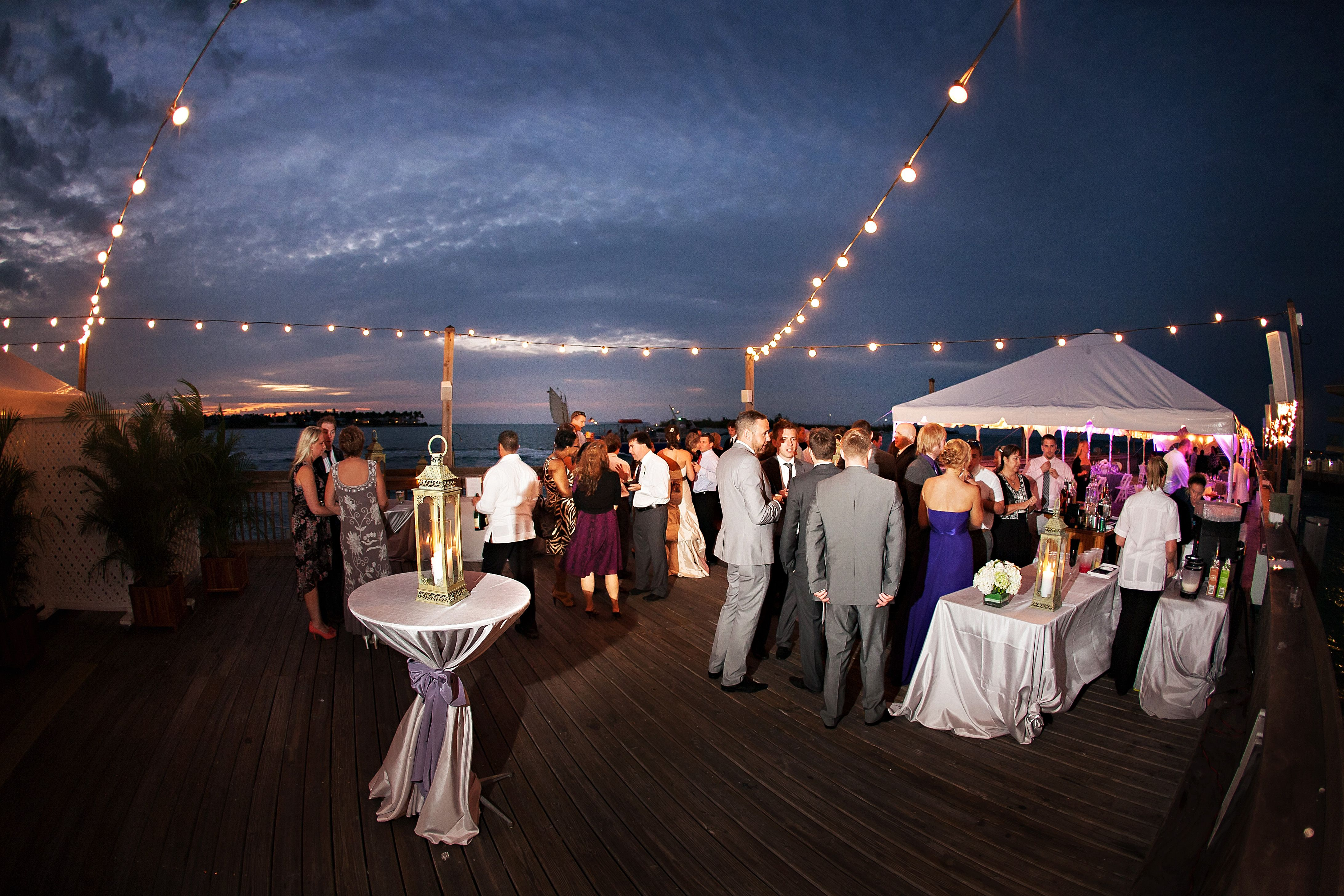 Key West Wedding Reception at The Sunset Pier at The Ocean Key