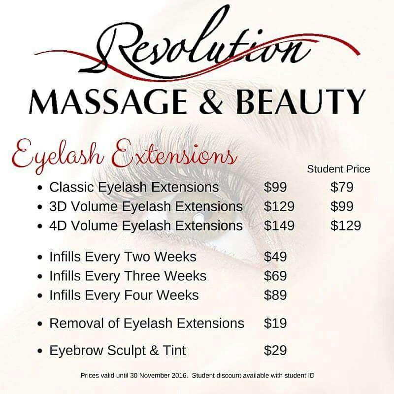 Eyelash Extension Price List  Idea    Eyelash