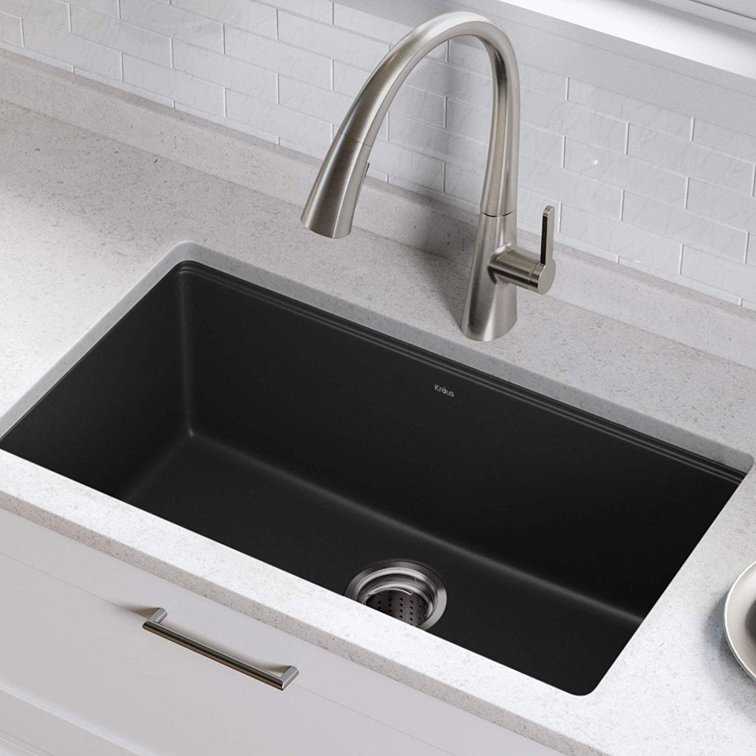 Undermount Single Bowl Black Onyx Granite Kitchen Sink Undermount Kitchensink Granitecompositeki Undermount Kitchen Sinks Granite Kitchen Sinks Sink