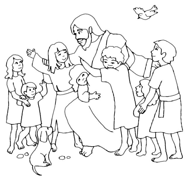 Love Coloring Sheets For Children Jesus Loves The Little Children