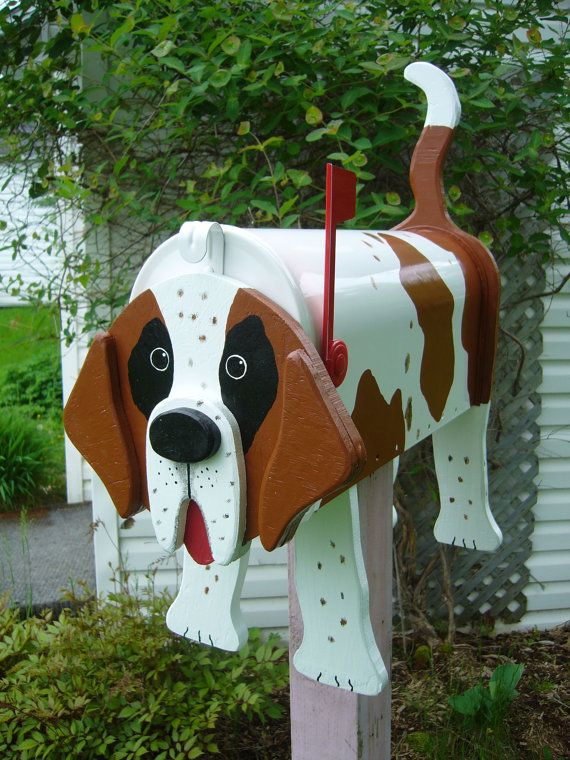 dog mailboxes st bernard mailbox en 2019 misc bo te. Black Bedroom Furniture Sets. Home Design Ideas