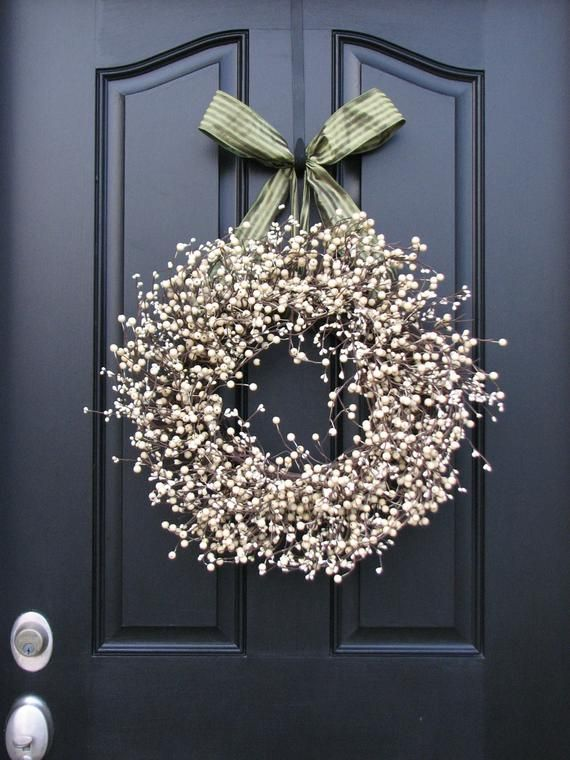 Photo of Berry Wreath – Sweet Cream Berry Wreath – Year Round Decor – Shabby Chic Decor