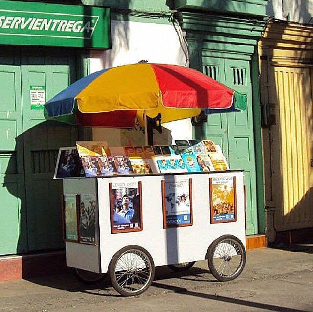 Cart Witnessing in Colombia http://MinistryIdeaz.com