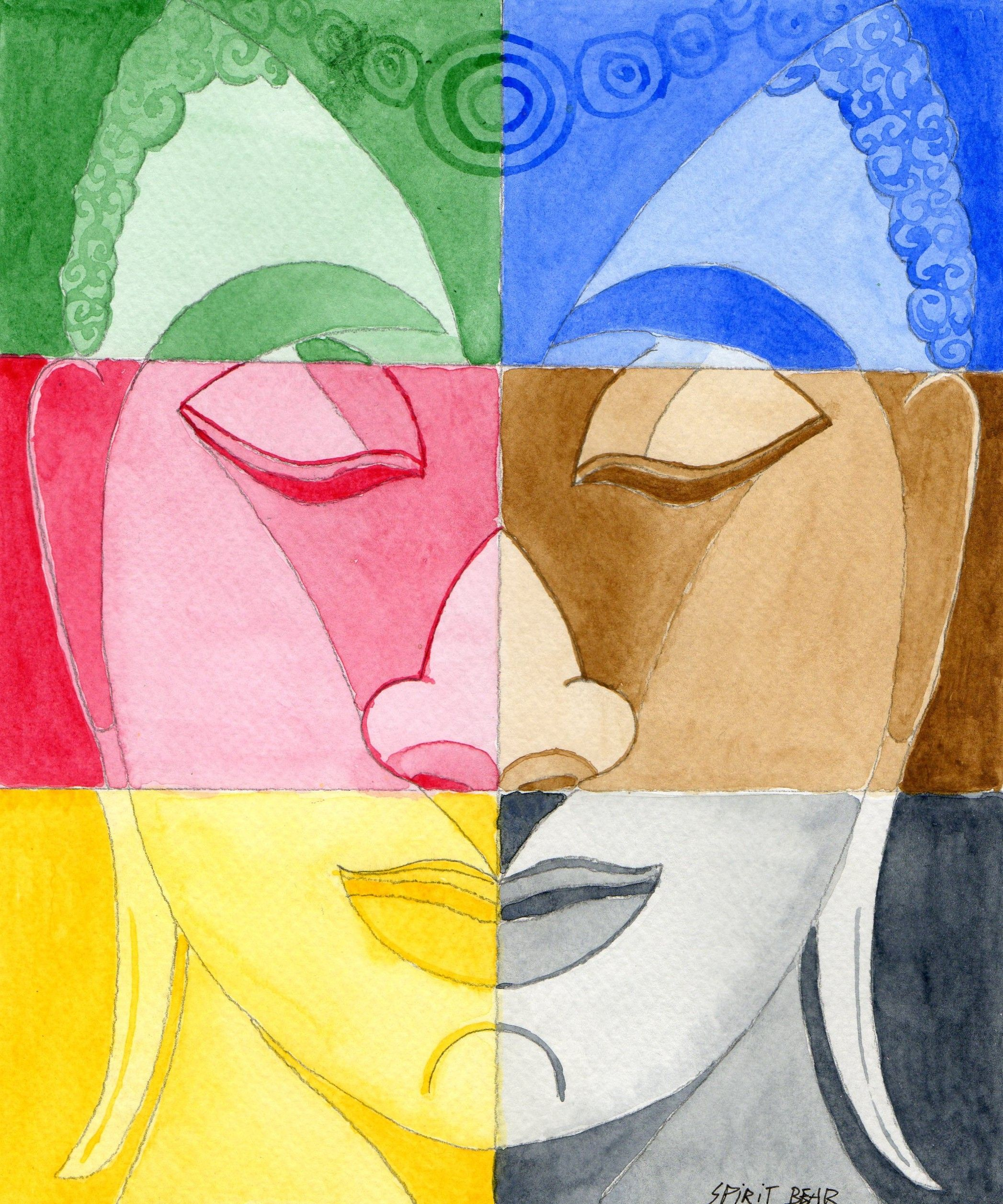 Buddha. Winsor & Newton Cotman on Canson paper.