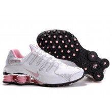 Nike Womens Shox NZ plating 305586 016 white pink | NIKE