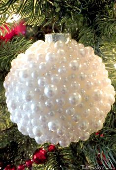 Pearl christmas tree ornaments pinterest unique christmas trees these diy pearl christmas ornaments are a fun craft that results in beautifully unique christmas tree ornaments that you can make for yourself or as a fun solutioingenieria Images