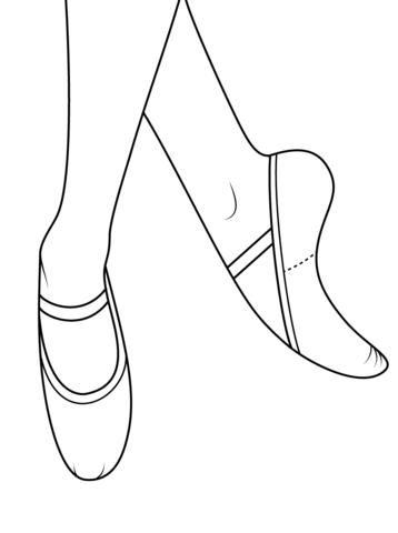 Ballet Shoes Coloring page | Ballerina | Pinterest | Punto cruz ...