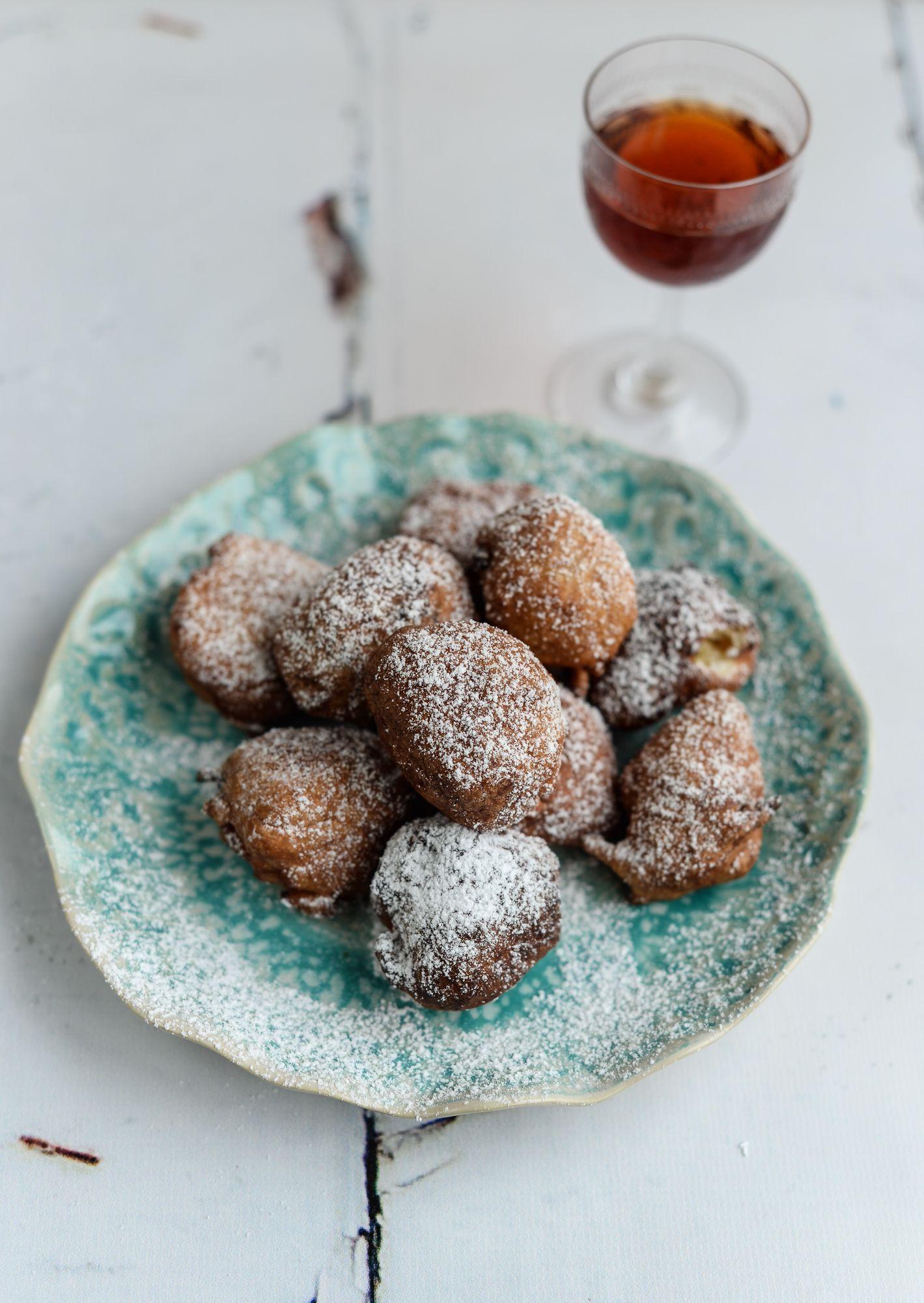Croatian fritule mini boozy doughnuts