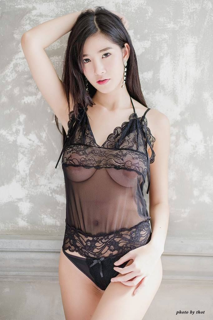 Girl see through lingerie