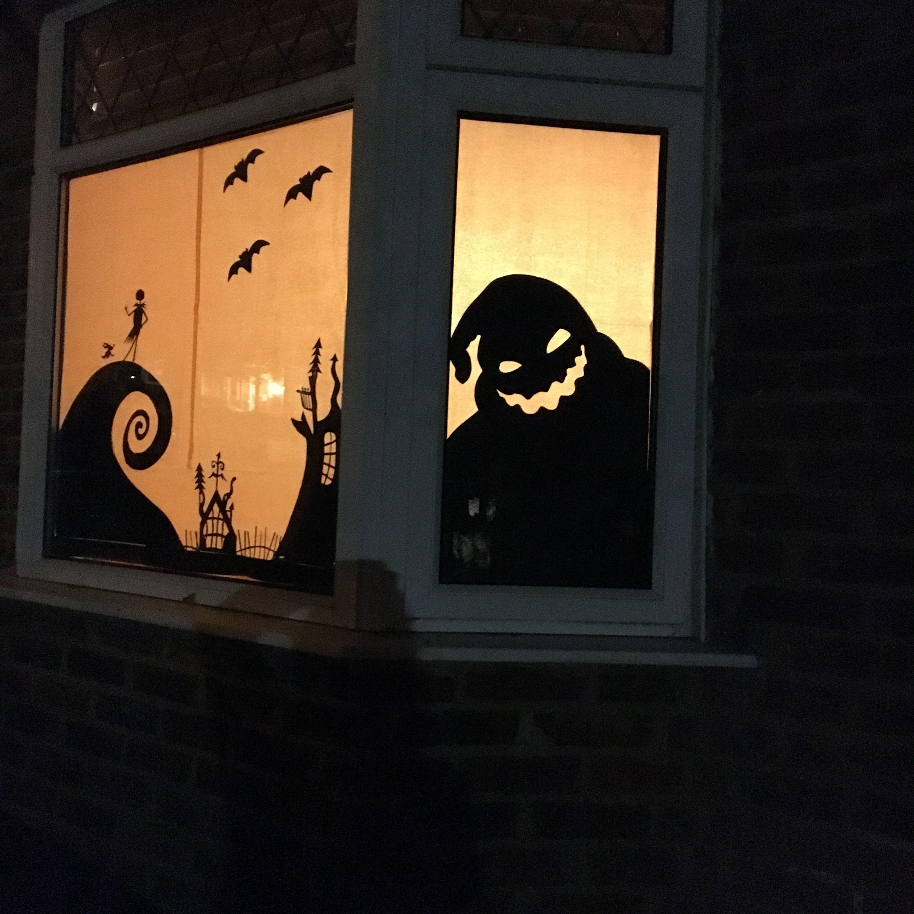Oogie boogie. Nightmare before Christmas. Halloween window