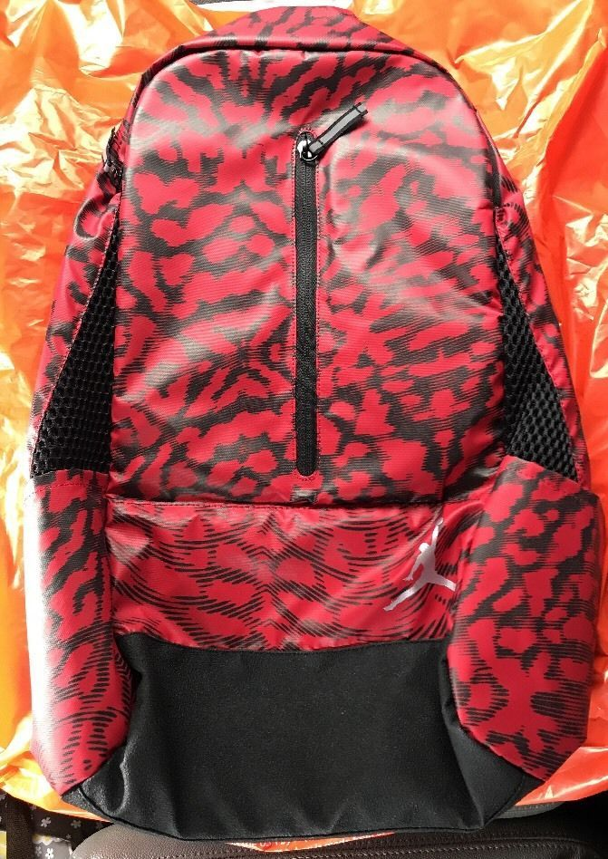 b7456635c28baf Air Jordan Nike Jumpman Backpack Laptop School Gym Bag Black Red 9A1776-R78   NikeAirJordan  Backpack