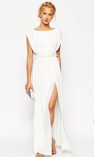 e2976cc71b Embellished Waist Maxi Dress. Embellished Waist Maxi Dress Koktélruhák,  Fehér Esküvői Ruhák ...