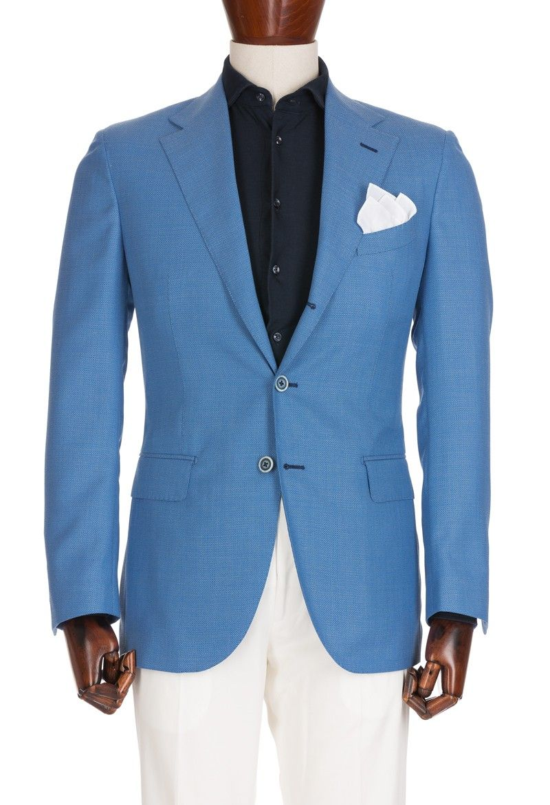 Textured Light Blue Jacket, Wool | Men\'s Suit and formal Dresses ...