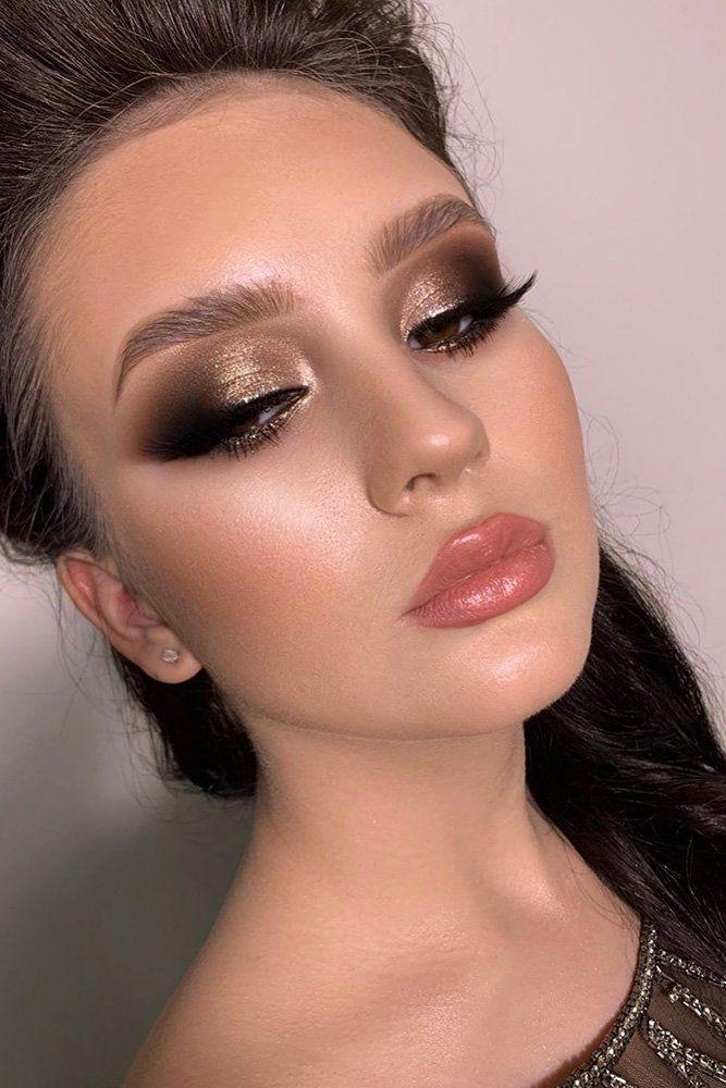 Photo of 45 Hochzeit Make-up-Ideen für stilvolle Bräute Hochzeit Make-up Abend schwarz …