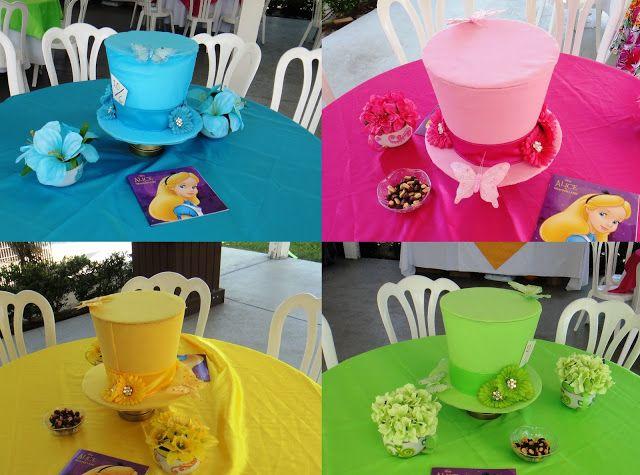 Diy Mad Hatter Centerpieces Alice In Wonderland Tea Party Mad