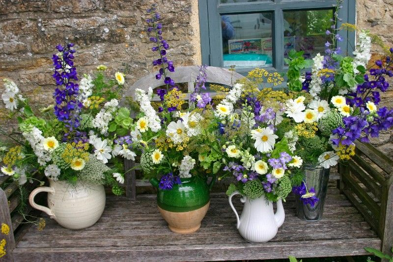 Fine Cottage Garden Flowers With Vintage Jugs Floral Design Download Free Architecture Designs Ponolprimenicaraguapropertycom