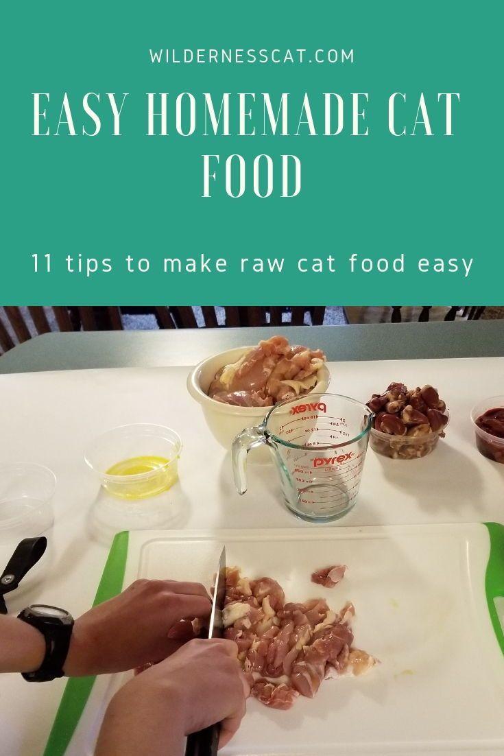 Wie man rohes Katzenfutter macht 11 Hacks um es einfach zu machen  radically natural cat nutrition