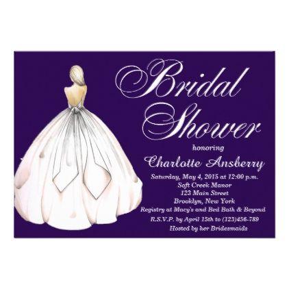 elegant chic bride bridal shower invitation pattern sample design template diy cyo customize