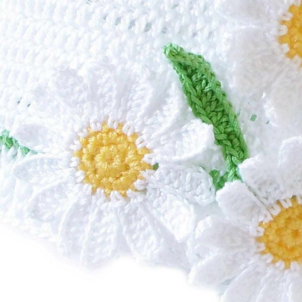crochet daisyflower crochethow izmirmasajfo