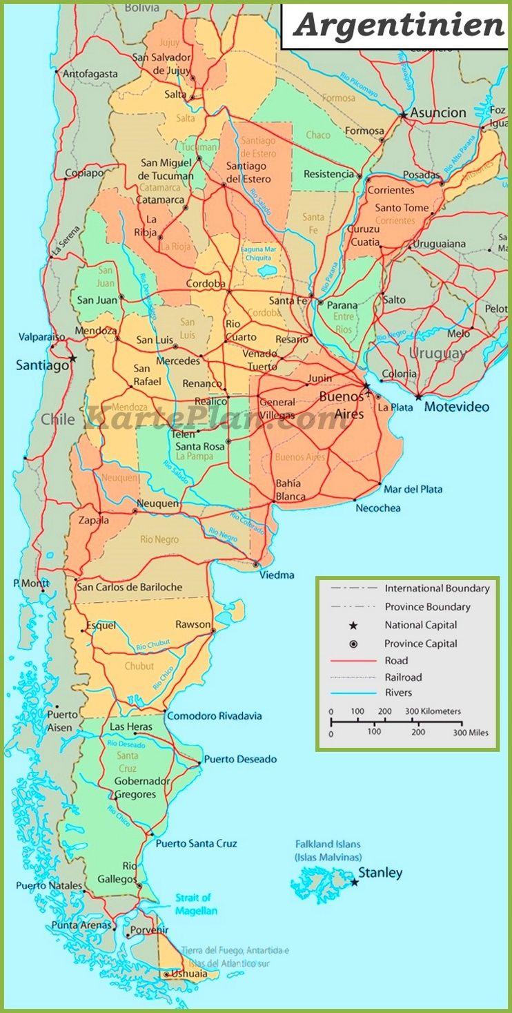 Verwaltungskarte von Argentinien