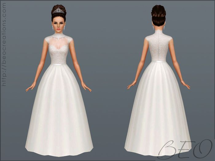 BEO CREATIONS: Wedding Dress 27 Sims 3 Wedding Dress