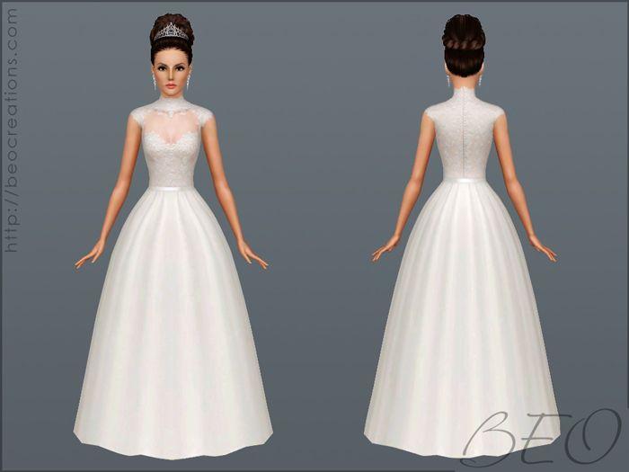 Beo Creations Wedding Dress 27 Sims 3 Wedding Dress Female