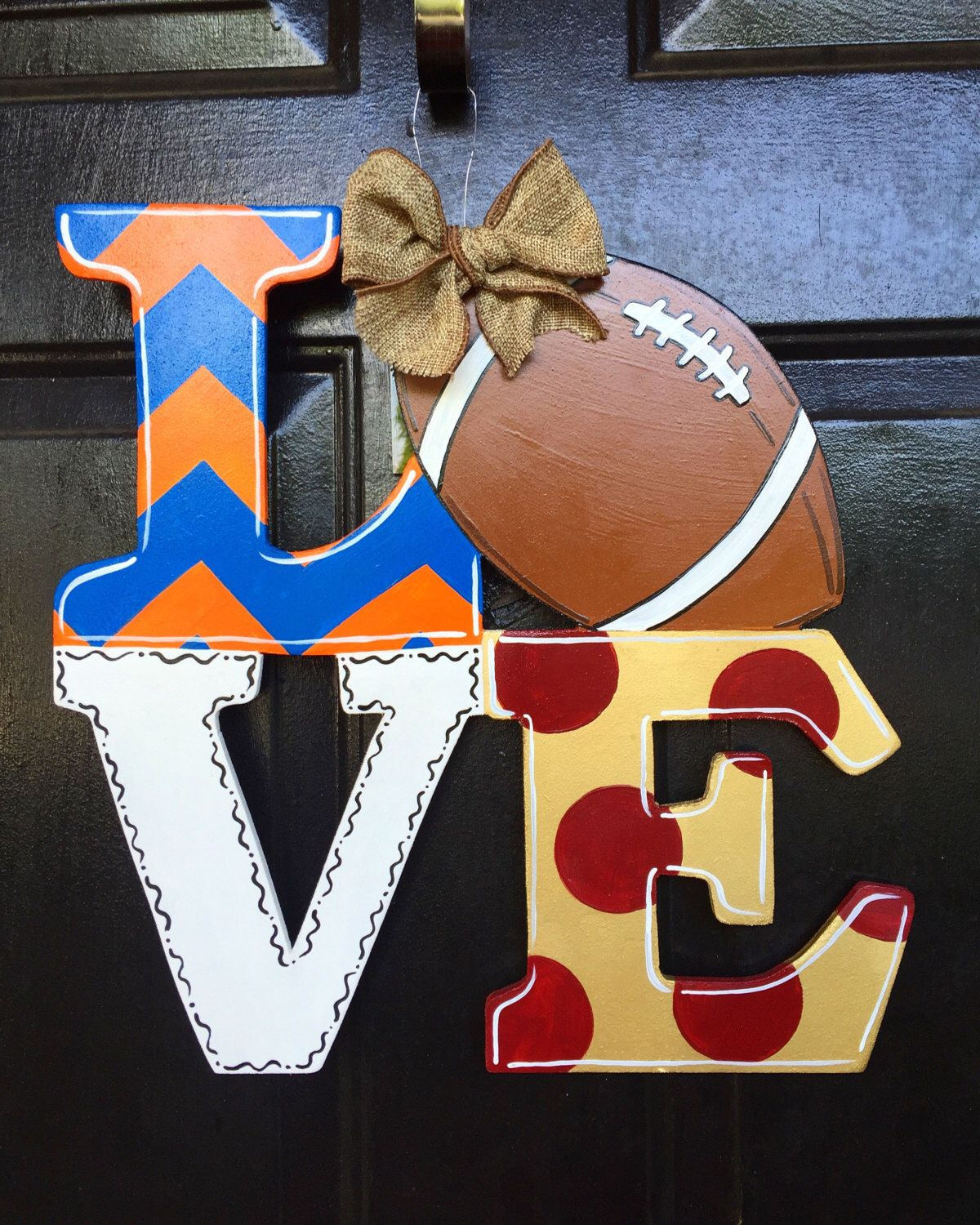 A personal favorite from my Etsy shop //.etsy.com/listing/453969214/love-football-house-ided-door -hanger & Football House Divided Door Hanger College Football Gators and ...