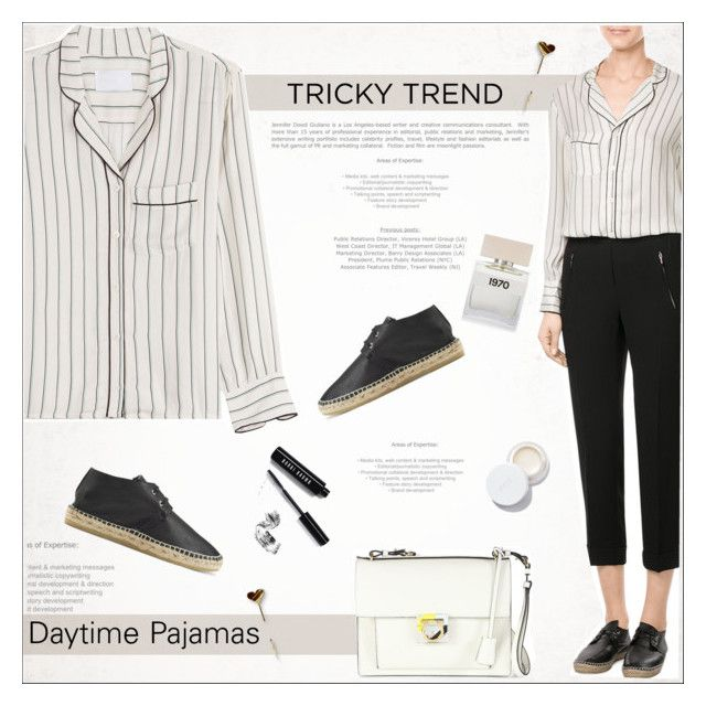 """Tricky Trend: Daytime Pajamas"" by alves-nogueira ❤ liked on Polyvore featuring Zadig & Voltaire, Robert Clergerie, Salvatore Ferragamo, Bella Freud, rms beauty, Bobbi Brown Cosmetics, TrickyTrend, pajamas, SalvatoreFerragamo and polyvoreeditorial"