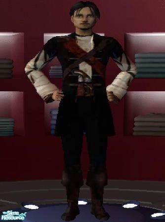 Dalton C. Teczon aka KingDalt777's Burrly Townsend Pirate Outfit